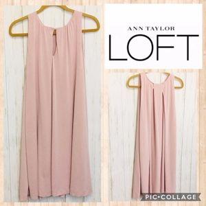 Loft Light Pink Sleeveless Swing Dress SM